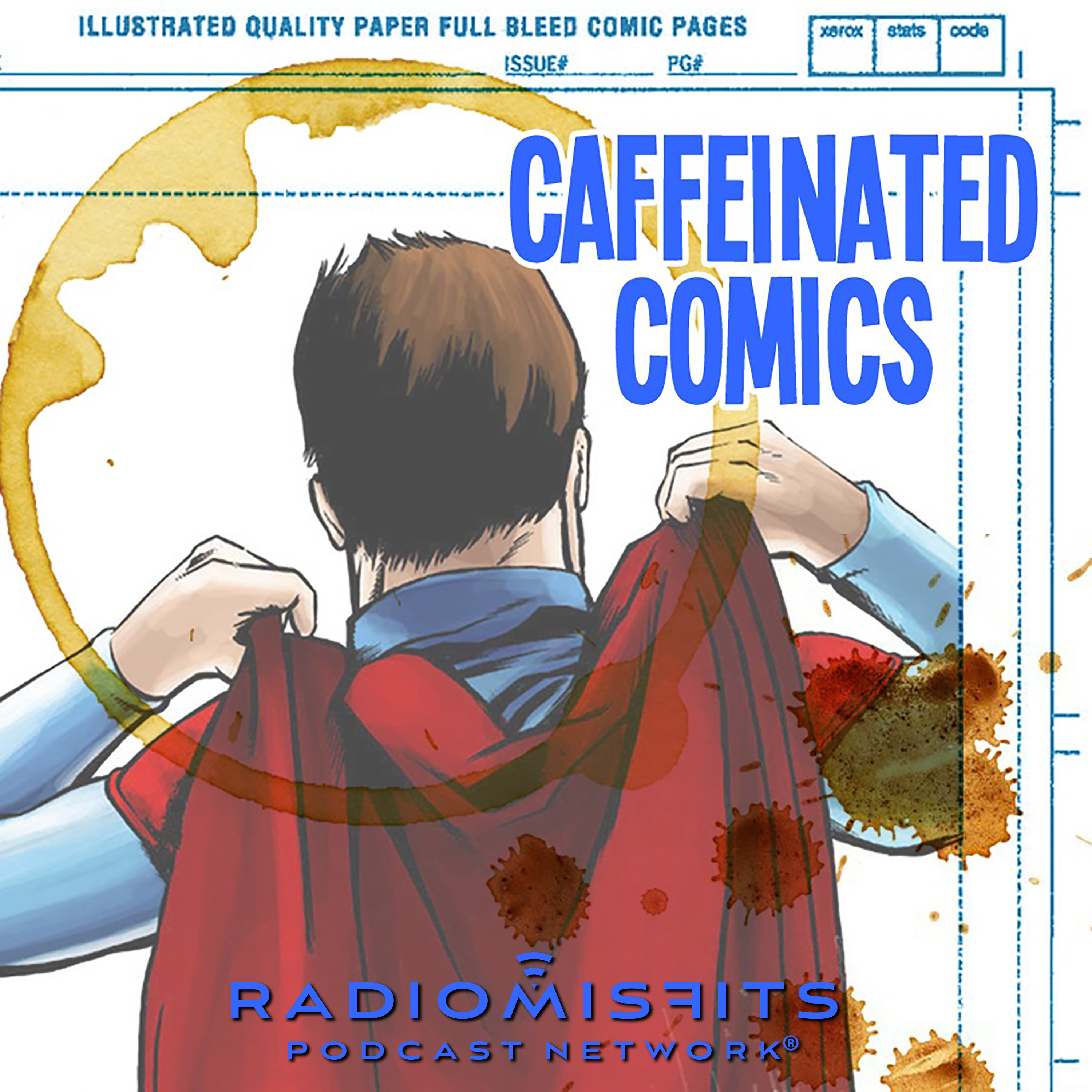 Caffeinated Comics on Radio Misfits